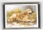 GOLDERN RETRIEVER LARGE FRIDGE MAGNET 4